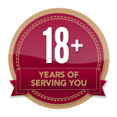 18+ Years of Service